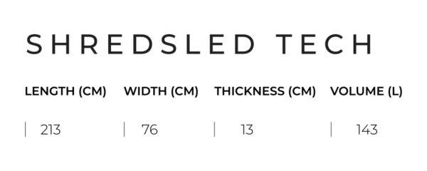 slingshot shred sled v1 medidas